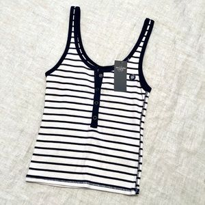 Abercrombie Striped Cropped Tank